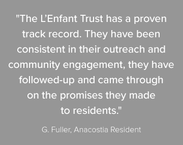 The L'Enfant Trust outreach and community engagement