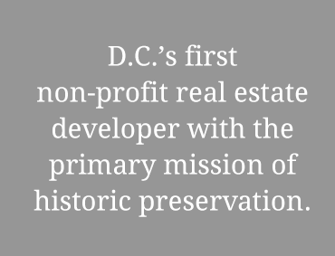 The L'Enfant Trust D.C.'s first non-profit real estate developer